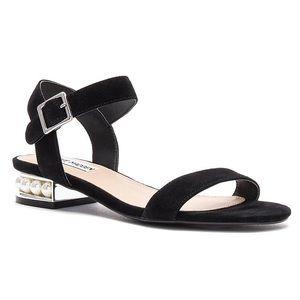 Steve Madden Cashmere Black Suede Pearl Sandals